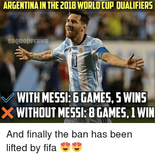 Fifa Memes And World Cup Argentina In The  World Cup Oualifiers Saqllolifobwb
