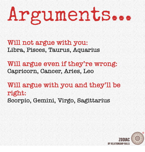 Arguing with a sagittarius woman