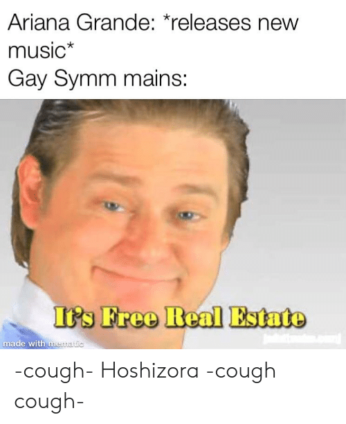 Ariana Grande, Music, and Free: Ariana Grande: releases new  music  Gay Symm mains:  Itrs Free Real Estate  made with memat -cough- Hoshizora -cough cough-