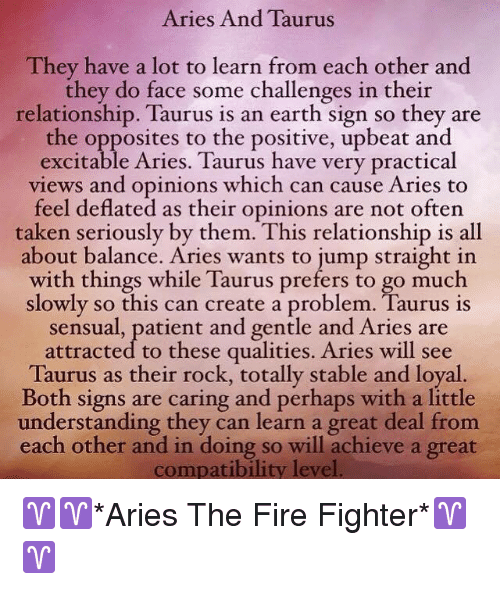 Aries and Taurus They Have a Lot to Learn From Each Other