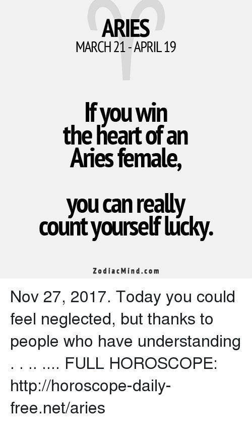 ARIES MARCH 21- APRIL19 if You Win the Heart of an Aries