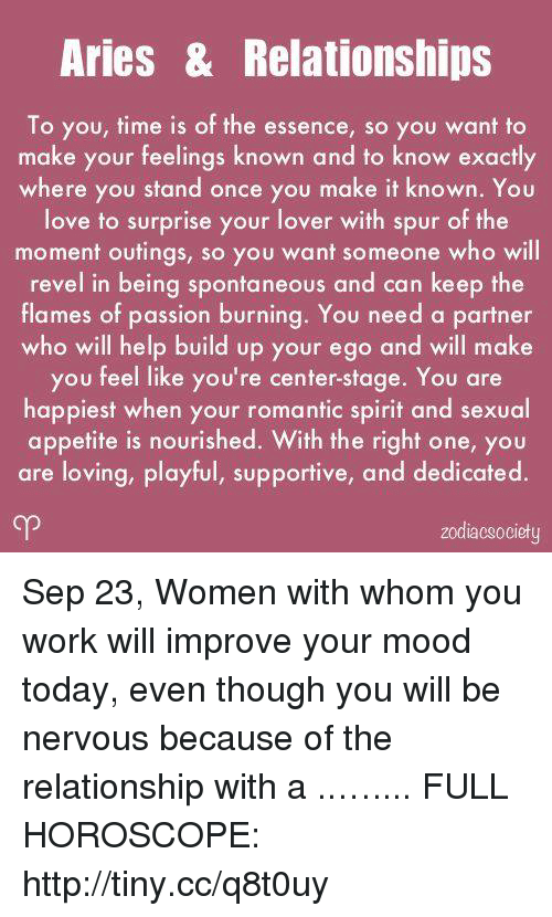 aries horoscope relationships today