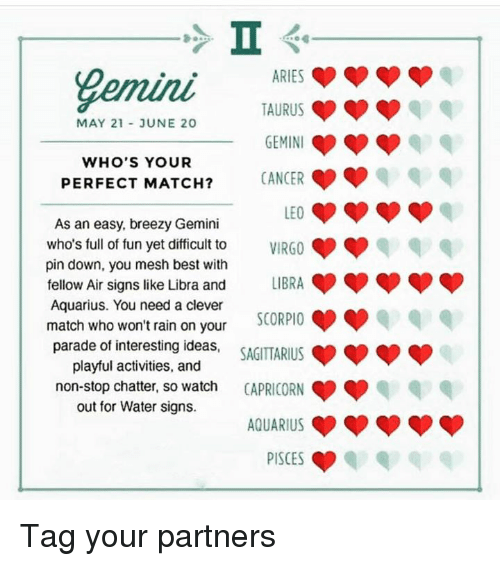 What is a good match for a gemini