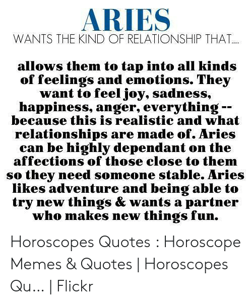 ARIES WANTS THE KIND OF RELATIONSHIP THAT Allows Them to Tap