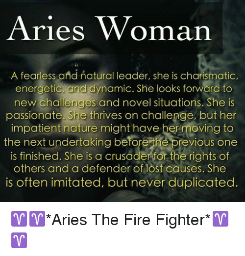 Aries Woman a Fearless and Natural Leader She Is Charismatic