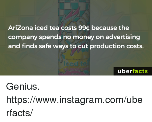arizona iced tea costs 994 because the company spends no money on