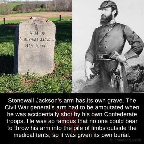 Memes Weird and Bear ARM DF STONEWALL JACKSON MAY 3 1863 Stonewall  sc 1 st  Me.me & ARM DF STONEWALL JACKSON MAY 3 1863 Stonewall Jacksonu0027s Arm Has ...
