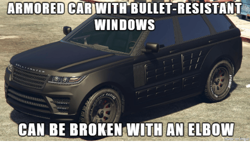 Armored Car With Bullet Resistant Windows Can Be Broken With An