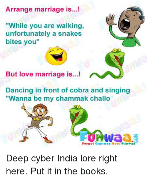 Arrange Marriage Is While You Are Walking Unfortunately A Snakes