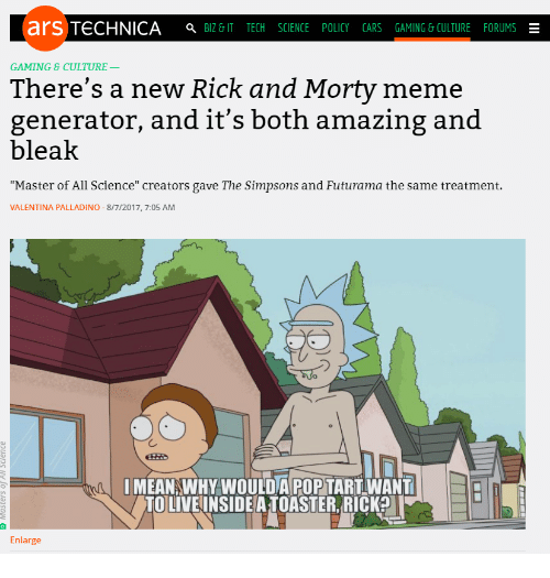 ars technica a biz it tech science policy cars 26944097 25 best rick and morty meme generator memes rick and morty drunk