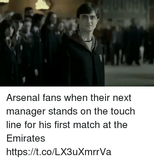 Arsenal, Soccer, and Emirates: Arsenal fans when their next manager stands on the touch line for his first match at the Emirates https://t.co/LX3uXmrrVa