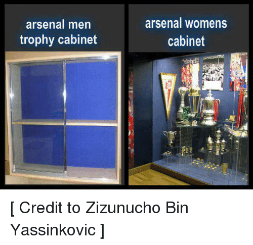 Arsenal Soccer And Women Men Trophy Cabinet Womens Credit