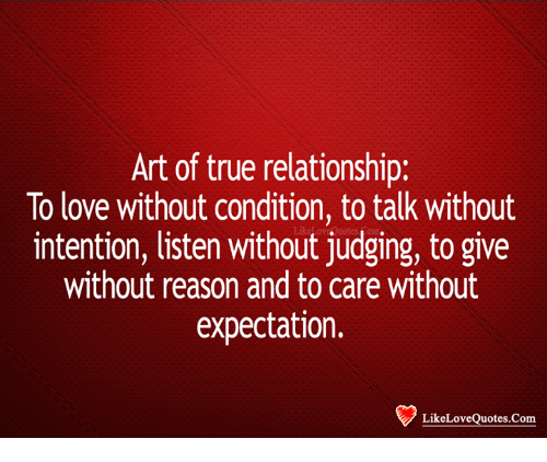 Art of True Relationship to Love Without Condition Totalk
