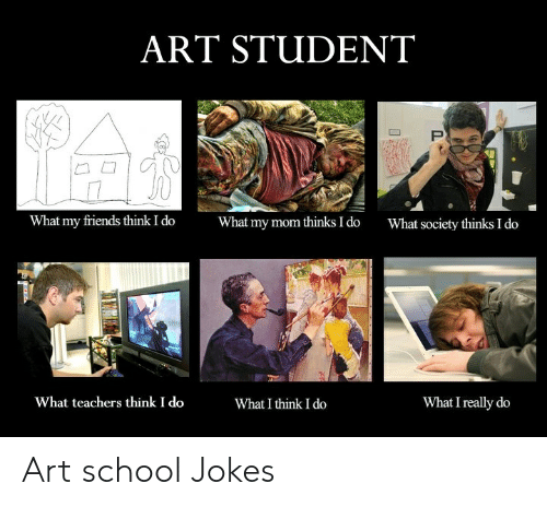 ART STUDENT What My Friends Think I Do What My Mom Thinks I