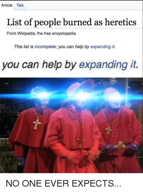 You Can Help By Expanding It