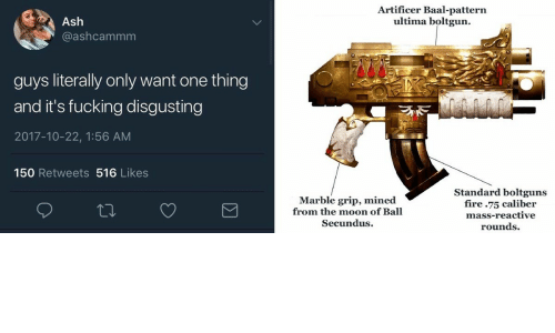 Artificer Baal Pattern Ultima Boltgun Ash Guys Literally Only Want
