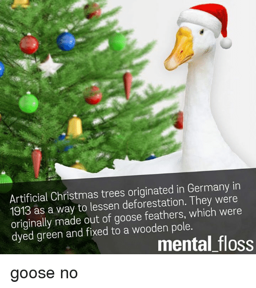 Artificial Christmas Trees Originated in Germany in 1913 ...