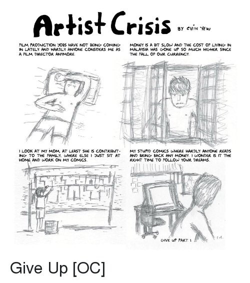Artist Crisis eY CHIN YEw FILM PRODUCTION JOBS HAVE NOT