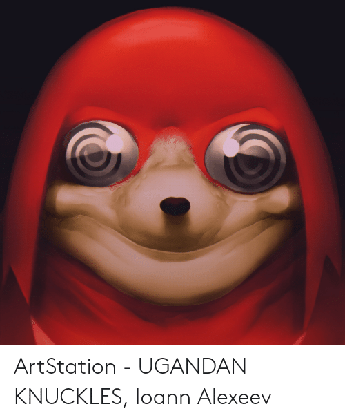 Artstation Ugandan Knuckles Ioann Alexeev Knuckles Meme On Me Me