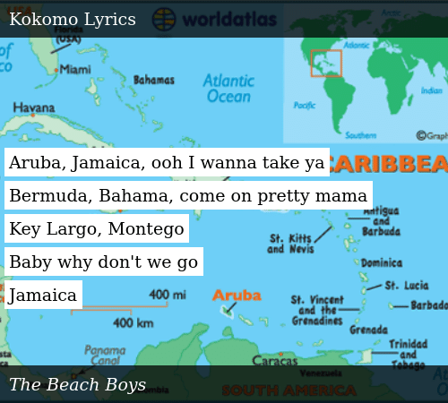 Aruba Jamaica Ooh I Wanna Take Ya Bermuda Bahama Come on Pretty Mama on kokomo florida keys map, kokomo florida keys florida, kokomo beach fl, kokomo florida keys beach, kokomo florida keys hotels,