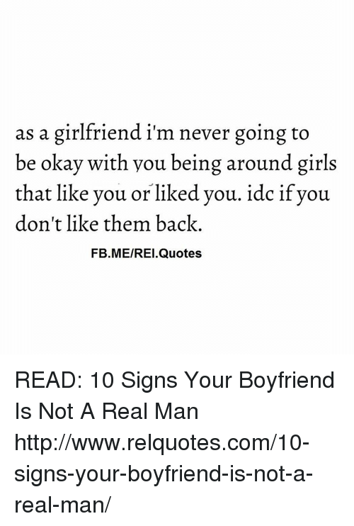 As A Girlfriend Im Never Going To Be Okay With You Being Around