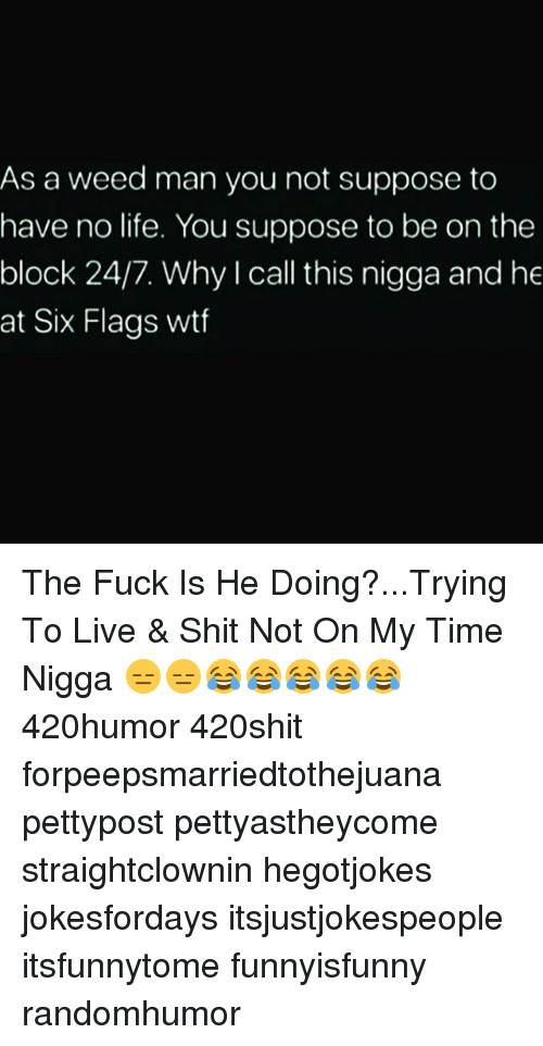 Life, Memes, and Shit: As a weed man you not suppose to  have no life. You suppose to be on the  block 24/7. Why I call this nigga and he  at Six Flags wtf The Fuck Is He Doing?...Trying To Live & Shit Not On My Time Nigga 😑😑😂😂😂😂😂 420humor 420shit forpeepsmarriedtothejuana pettypost pettyastheycome straightclownin hegotjokes jokesfordays itsjustjokespeople itsfunnytome funnyisfunny randomhumor