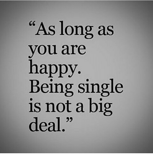 As Long As You Are Happy Being Single Is Not A Big Deal Meme On Meme
