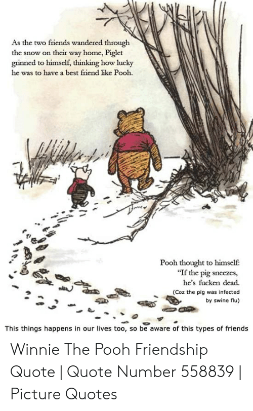 As The Two Friends Wandered Through The Snow On Their Way