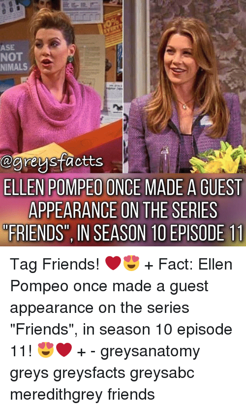 Ase Not Nimals Ellen Pompeo Once Made A Guest Appearance On The