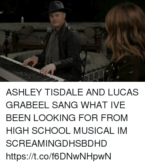 High School Musical, School, and Sang: ASHLEY TISDALE AND LUCAS GRABEEL SANG WHAT IVE BEEN LOOKING FOR FROM HIGH SCHOOL MUSICAL IM SCREAMINGDHSBDHD https://t.co/f6DNwNHpwN
