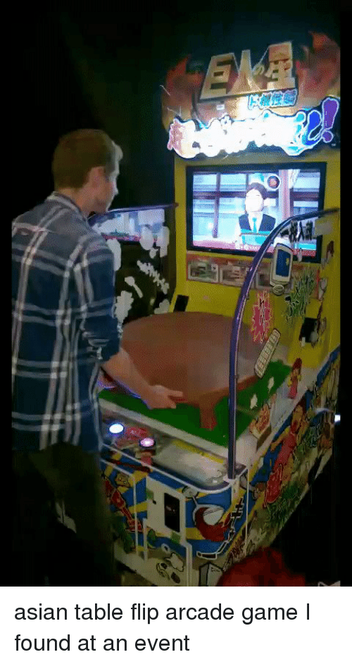 Asian Funny And Table Flip Arcade I Found At An