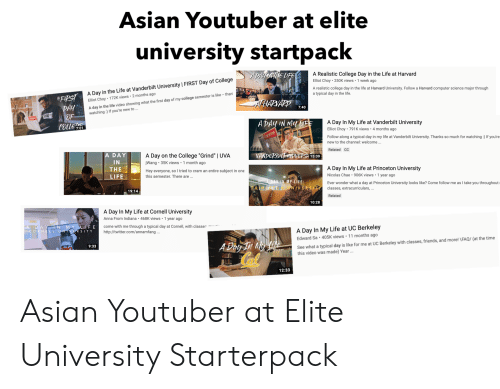 Asian Youtuber At Elite University Startpack A Realistic College Day In The Life At Harvard Elliot Choy 250k Views 1 Week Ago A Realistic College Day In The Life At Harvard University Elliot choy is on facebook. meme