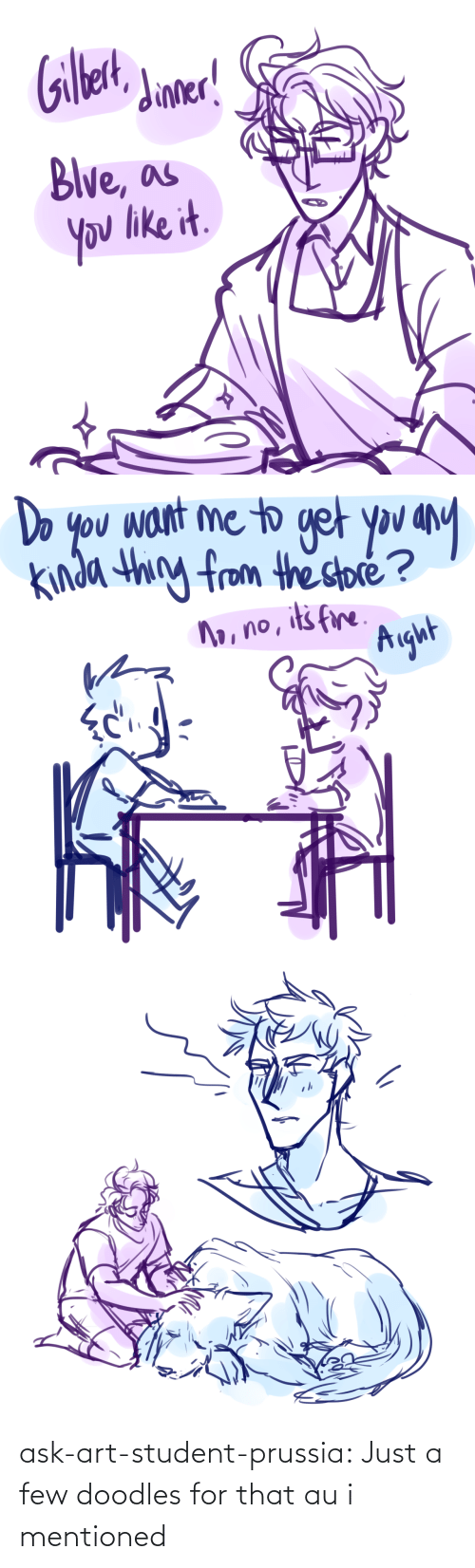 Target, Tumblr, and Blog: ask-art-student-prussia:  Just a few doodles for that au i mentioned
