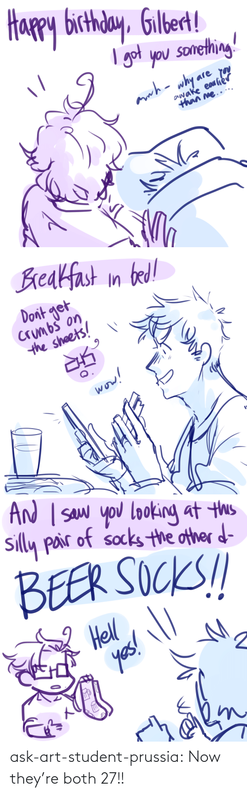 Target, Tumblr, and Blog: ask-art-student-prussia:  Now they're both 27!!