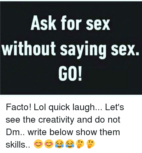 Funny saying sex