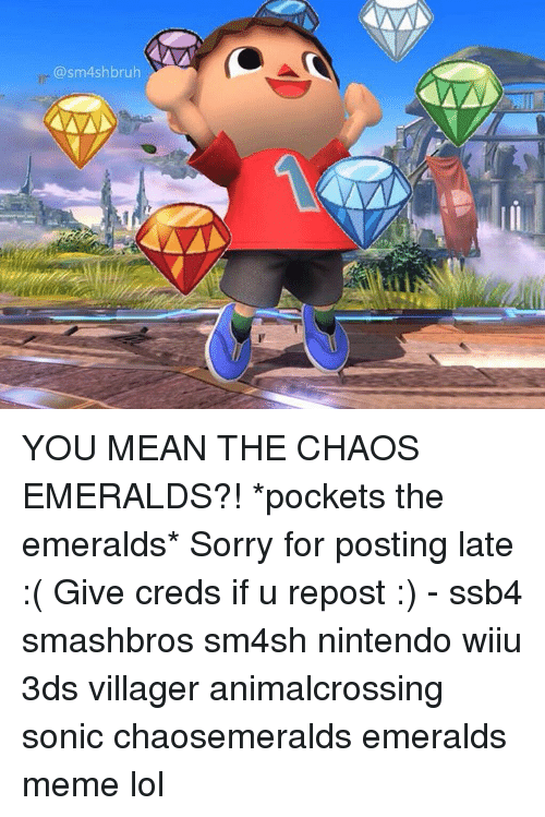 Asm Ashbruh You Mean The Chaos Emeralds Pockets The Emeralds