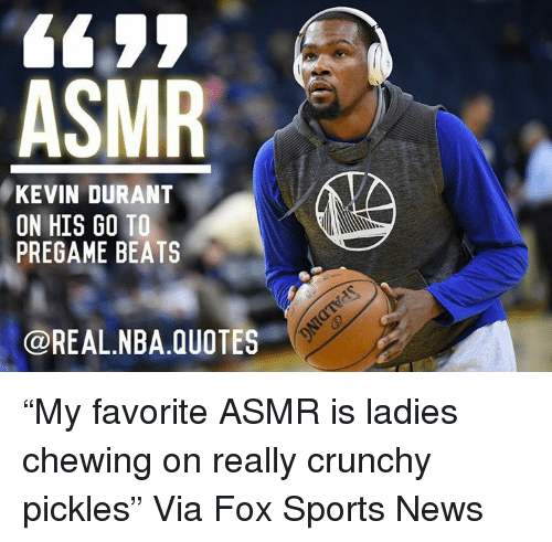 "Kevin Durant Quote Beauteous Asmr Kevin Durant On His Go To Pregame Beats Quotes ""My Favorite"