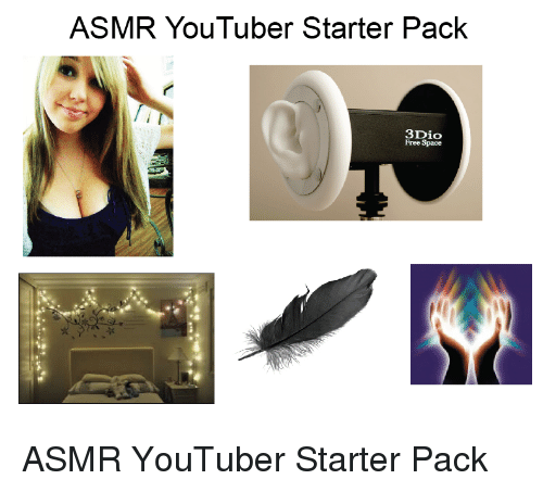 Starter Packs, Free, and Space: ASMR YouTuber Starter Pack  3Dio  Free Space ASMR YouTuber Starter Pack