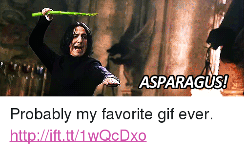 """Gif, Asparagus, and Http: ASPARAGUS! <p>Probably my favorite gif ever. <a href=""""http://ift.tt/1wQcDxo"""">http://ift.tt/1wQcDxo</a></p>"""
