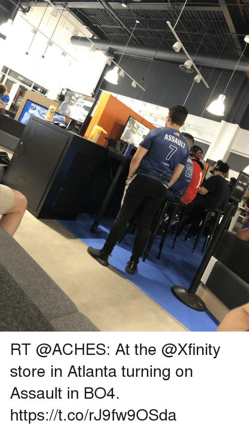ASSAUIT RT at the Store in Atlanta Turning on Assault in BO4