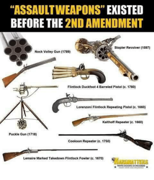 ASSAULTWEAPONS EXISTED BEFORE THE 2ND AMENDMENT Stopler