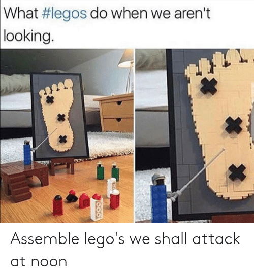 Legos, Assemble, and Attack: Assemble lego's we shall attack at noon