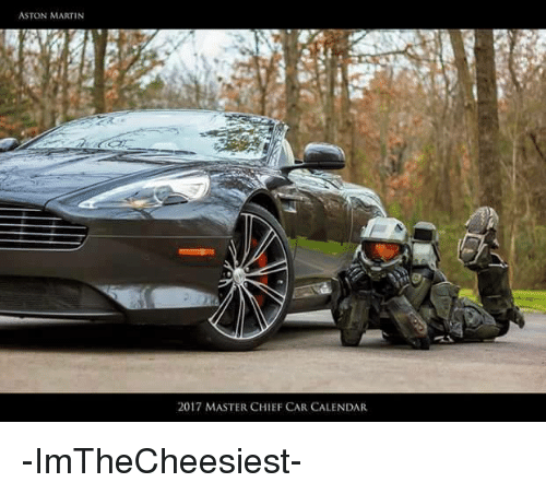 Aston Martin 2017 Master Chief Car Calendar Imthecheesiest
