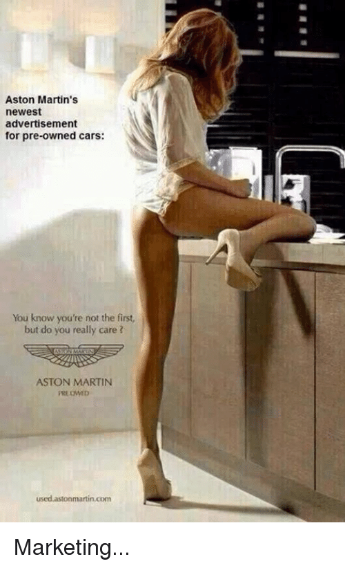 Aston Martins Newest Advertisement For PreOwned Cars You Know You - Used aston martin