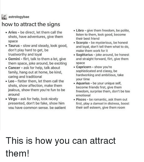 How to attract aries