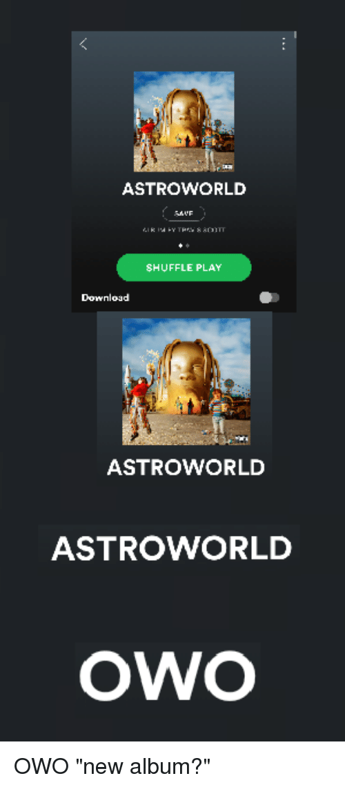 ASTROWORLD SHUFFLE PLAY ASTROWORLD ASTROWORLD owO | New
