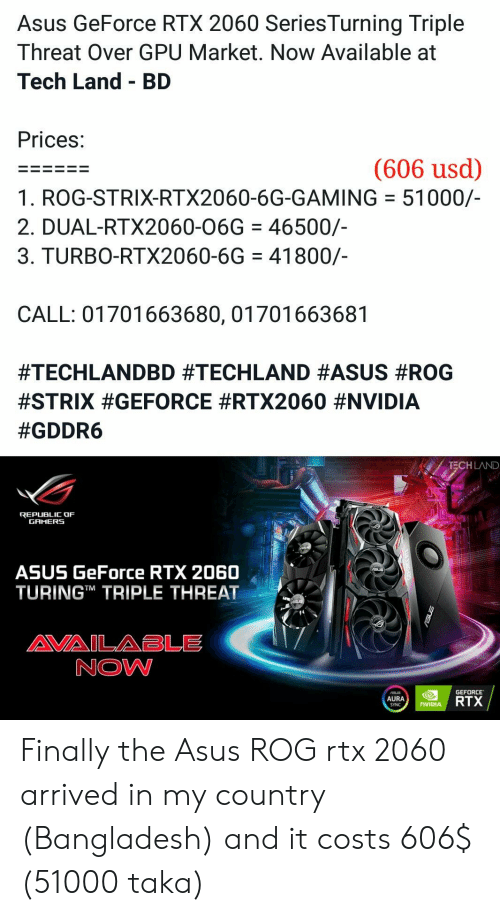 Asus GeForce RTX 2060 SeriesTurning Triple Threat Over GPU