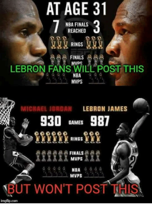 Finals LeBron James And Michael Jordan AT AGE 31 NBA FINALS REACHED RINGS