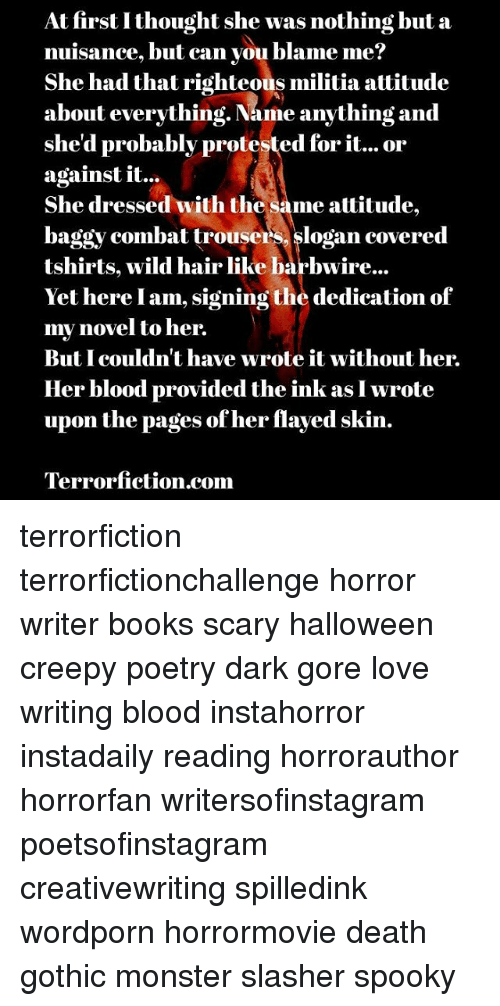 at first i thought she was nothing but a nuisance but can you  books creepy and halloween at first i thought she was nothing but a