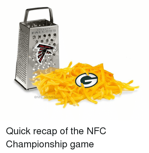 Memes, NFC Championship Game, and 🤖: AT LA MTA  ONFL MEMES Quick recap of the NFC Championship game